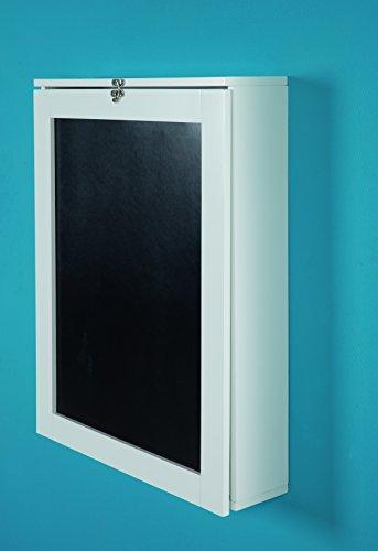 Phoenix York Bureaux avec Ardoise, Blanc Bois, Laque, 15,5x60x75 cm
