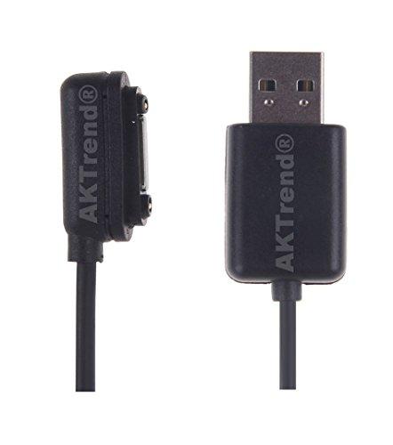 AKTrend® Magnet USB Ladekabel für Sony Xperia Z3 , Sony Xperia Z3 Compact , Sony Xperia Z2, Sony Xperia Z1 Smartphone , Sony Xperia Z2 Mini ,Sony Xperia Z1 Mini, , Sony Xperia Z Ultra XL39h Ladekabel Anschluss mit Magnet Adapter Stecker Verbindung AK-MAG-08 (Magnete Angewandte)