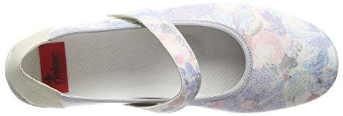 RiekerL2062 Women Closed Toe - Ballerine donna Multicolore (Multicolor (Multicolor))