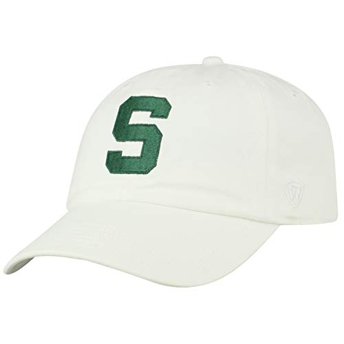 Top of the World NCAA Michigan State Spartans Men's Adjustable Relaxed Fit White Icon Hat, White