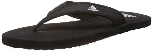 adidas Men's Adi Rio Black and White Slippers - 8 UK (Q17318)