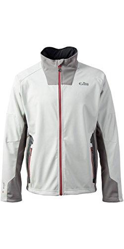 Gill Race Softshell Coat Jacket Coat Silver - Leichte thermische Materialien. Wasserdicht und atmungsaktiv Race Softshell