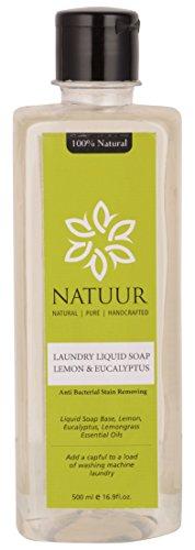 NATUUR Laundry Liquid Soap - Lemon and Eucalyptus - 500 ml (Clear)