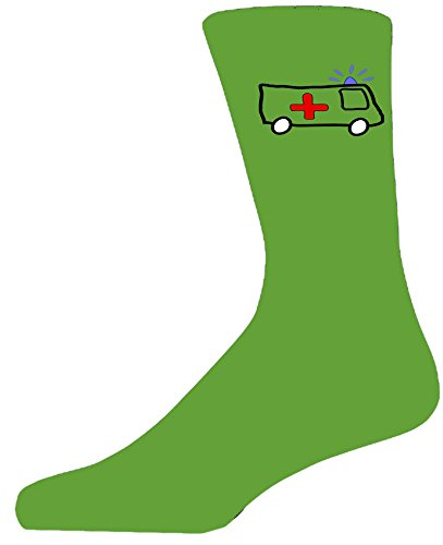 Green Socks With a Cute Ambulance Design. Perfect for that gift for that special person in your life. Like these, take a look at our great quality mugs and cufflinks to add to your gift choice.