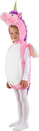 Mädchen Kleinkind Süß Rosa Einhorn mit Kapuze Überwurf Mythisch Kreatur Tier Karneval Festival Kostüm Kleid Outfit 3-4 Jahre (Mythische Tier Kostüm)