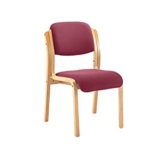 Office Hippo Heavy Duty Wood Framed Stackable Meeting Chair, Pre-Assembled - Claret Red