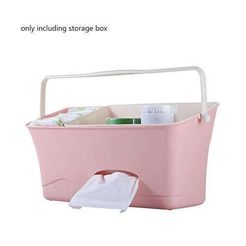 Organizador de guardería y organizador de pañales para bebé, organizador de pañales para colgar, caja de almacenamiento para bebés Essentials rosa rosa