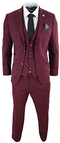 Costume 3 pièces Homme Tweed à Chevrons Laine mélangée Style Vintage rétro Peaky Blinders années 20