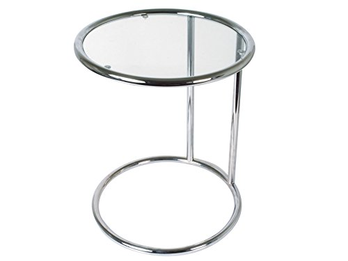 Leitmotiv TN646 Table d'Appoint Verre, Chrome, Taille S