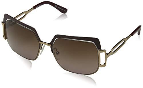 Etro et104s 614 56, occhiali da sole donna, oro (bordeaux/amber gold)