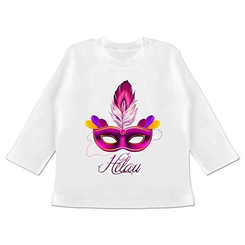 Anlässe Baby - Maske Helau - 3-6 Monate - Weiß - BZ11 - Baby T-Shirt ()