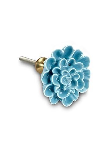 Abbott Collection sculpté Turquoise Fleur tiroir de