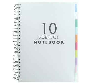 Paperchase - 10 quaderni con divisori per materie, formato a4