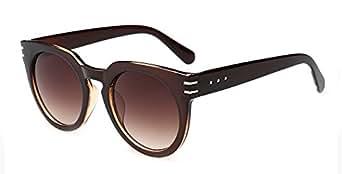 Outray Unisex Retro Nail Wayfare Sunglasses B225 Coffee