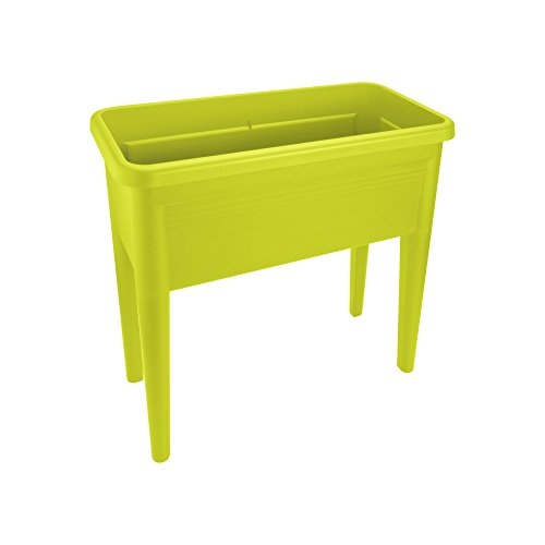 elho planteur - green basics table de culture xxl lime vert -  75.5 x...