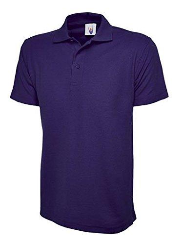 Preisvergleich Produktbild Price Drop 247 Classics Pique Polo für Herren, aus Stoff Piqué 220g/m², verfügbar in 15Farben, Größe XS–4x L, violett