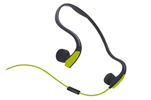 Sumeber, Knochenleitkopfhörer, mit Kabel und rauschunterdrückendem Mikrofon, wasserfest, für iOS/Android/PC, grün (Bone Conduction Kopfhörer)