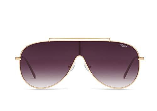 Quay Australia Dinero Womens Sunglasses One Size Gold Purple