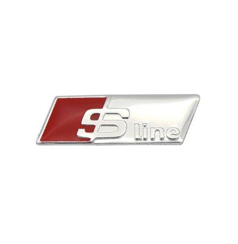 3D Lenkrad Emblem Aufkleber sline Abzeichen Aluminium Alu Auto Styling a1 a3 a4 a5 a7 q3 q5 q7 s3 s5