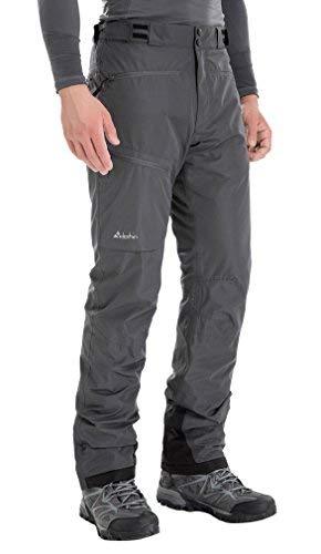 Clothin Isolierte Skihose Fleece gefütterte Wasserdicht Schnee Hosen 2XL (Regular-Fit) Grau -