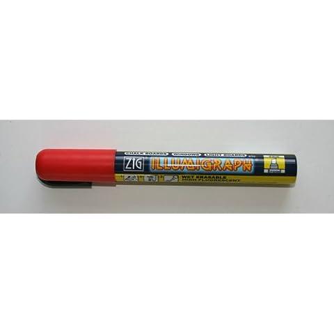Zig Illumigraph (6mm, tinta líquida, limpieza en mojado Pizarra Pen Rojo