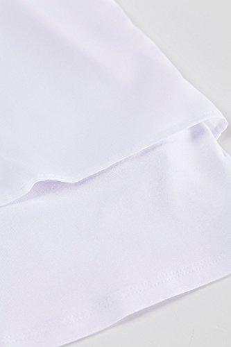 Ulla Popken Femme Grandes tailles Top effet de superposition souligné de strass 704912 Blanc Cassé