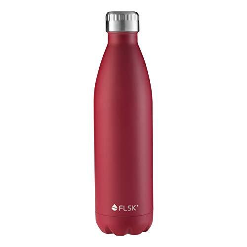 rinkflasche Thermoflasche Isolierflasche hält 18h heiß - 24h kalt (Farbe Bordeaux, Grösse 750ml) ()
