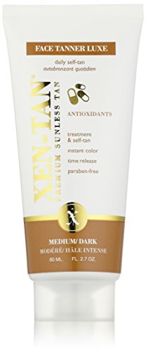Xen-Tan Face Tanner LUXE An Oil-Free Premium Sunless Tan with Green Tea 80ml (Instant Sunless Tanner)
