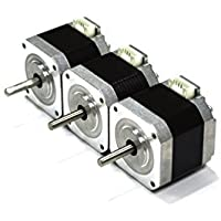 HICTOP 17 Nema 42 Schrittmotor 1,5A Bipolar 57oz.in 40mm 4-Leiter für 3D-Drucker / 3PCS CNC+ Verdrahtung