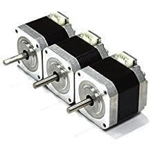 HICTOP Nema 17 42 Motor paso a paso bipolar 1.5A 57oz.in 40mm 4-plomo para la impresora 3D / CNC 3PCS+ alambrado
