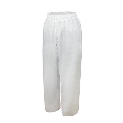 TopTie Kampfsportanzug Taekwondo Dobok Anzug aus Poly Baumwolle 7,5 oz mit traditioneller Taille Weiß Pants Size 000 (Martial-arts-uniform V-ausschnitt)