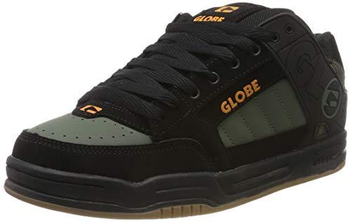 GLOBE Tilt, Zapatillas de Skateboard para Hombre, Negro Black/Olive Knit 20421, 42 EU
