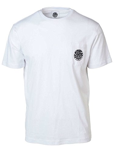 Rip Curl ORIGINAL WETTY Pocket Tee Herren,T-Shirt,Short Sleeve Tee,Kurze Ärmel,Rundausschnitt,Brusttasche,Optical White,S -