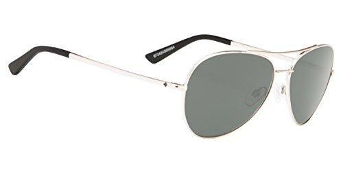 Spy Optic Whistler Wire Sunglasses Silver/Happy Gray/Green Polar