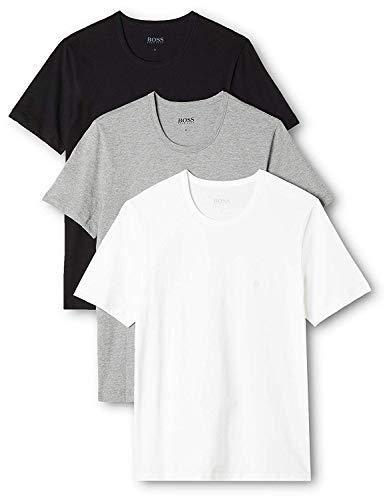 BOSS Herren RN 3P CO T-shirt, 3er Pack, Mehrfarbig 999, Large -