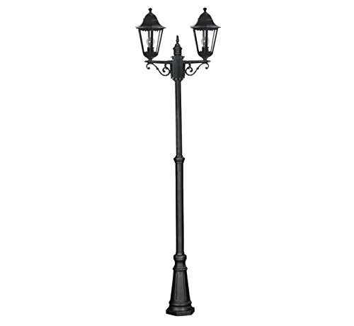 DJM Direct 2m - 2.5m Victorian Double Outdoor Garden Patio Path Lighting Lamp Post Lantern Light Ip44