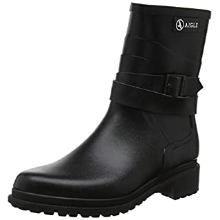 Aigle Women's Macadames Mid Wellington Boots, Black (Noir 001), 5.5 UK
