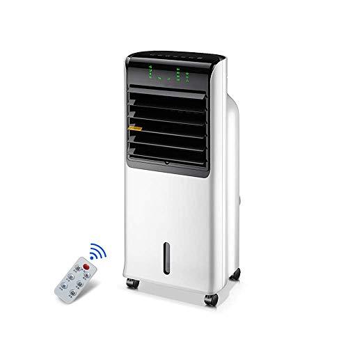 Oevino Kühlgebläse Mobiler Haushaltsklimaventilator mit LED-Fernbedienungsanzeige 110W (Color : White)