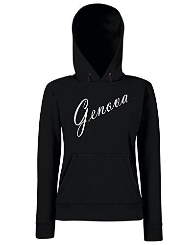 T-Shirtshock - Sweats a capuche Femme TSTEM0171 genova products Noir