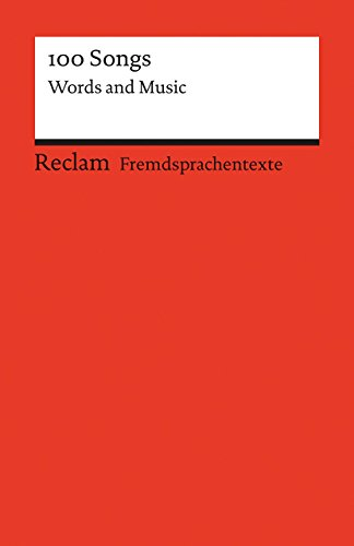 100-songs-words-and-music-fremdsprachentexte-reclams-universal-bibliothek