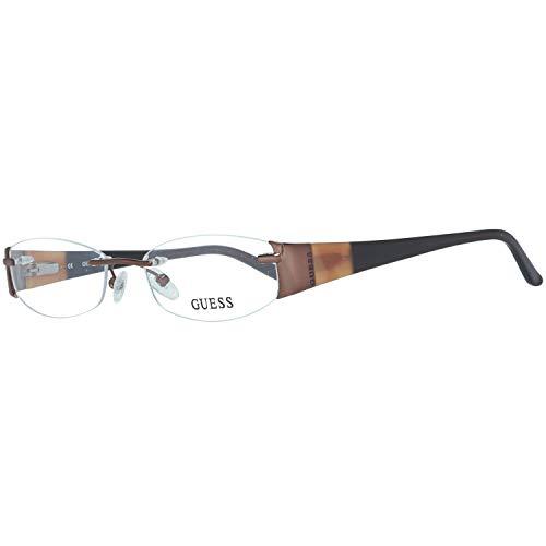 Guess Damen Brille Gu2225 D96 51 Brillengestelle, Braun,