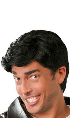 Guirca sl. parrucca corta travestimento elvis o grease, colore nero, 4886