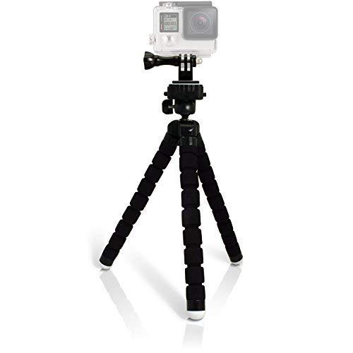 phot-r 26cm großer Universal Flexible Tischstativ mit GoPro Tripod Adapter-Schwarz
