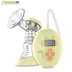 tiralatte elettrico singolo, l\' allattamento al seno pompa pompa latte materno avanzato con regolabile ventosa forza giallo
