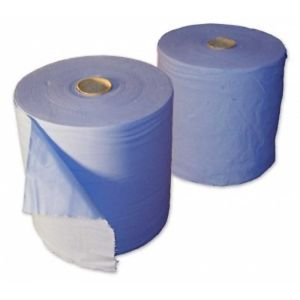 Blue Paper Rolls - 2 Ply Embossed Centre Feed ASH - Hand Towel - 130 Metre (2)