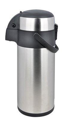 Mack Airpot 3L mit Pumpmechanismus Pumpkanne Isolierkanne Thermoskanne aus Edelstahl 3 Liter (3 L)