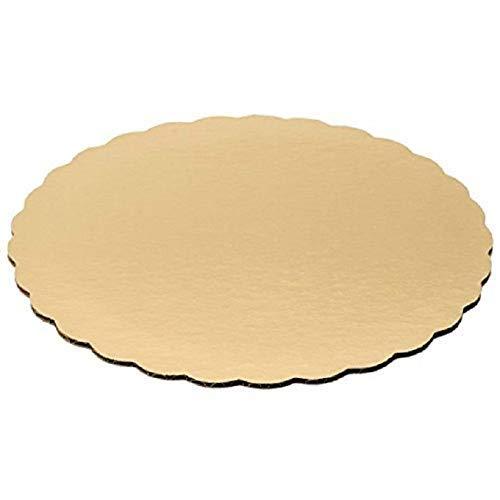 Southern Champion Tray 20,3cm Gold Scallop Kuchen Kreis Rund Board Gold (Kuchen Kreise Gold)
