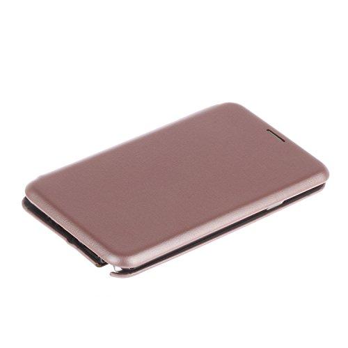 YHUISEN Solid Color Premium-PU-Leder und weicher TPU Gummischutz Mappen-Entwurfs-Flip Folio Case Schutzhülle mit Karten-Slot / Standplatz für Samsung Galaxy Note 3 ( Color : Rose Gold ) Rose Gold