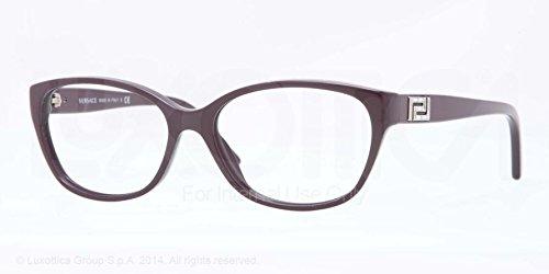 Versace Montures de lunettes 3189B Pour Femme Petroleum Blue, 52mm 5066: Violet