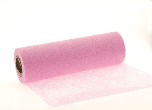 20m/23cm Vlies rosa Tischband Tischläufer Vliesband Taufe Kommunion Mädchen